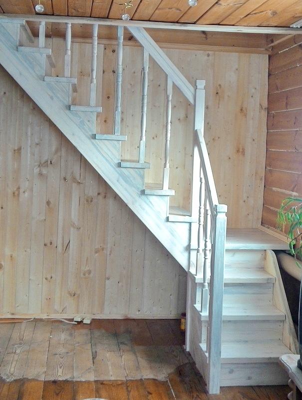 Лестница для дачного домика Лестница, Длиннопост, Изделия из дерева