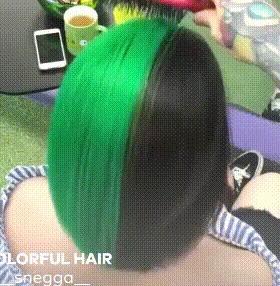 Прическа под настроение Цвет волос, Гифка, Прическа, Видео