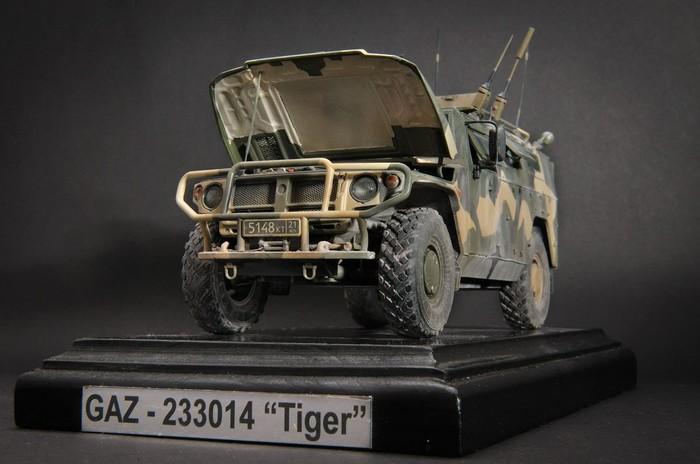 """Газ-233014 """"Тигр"""", Xact, 1:35 Стендовый моделизм, Модель, Газ Тигр, Длиннопост"""