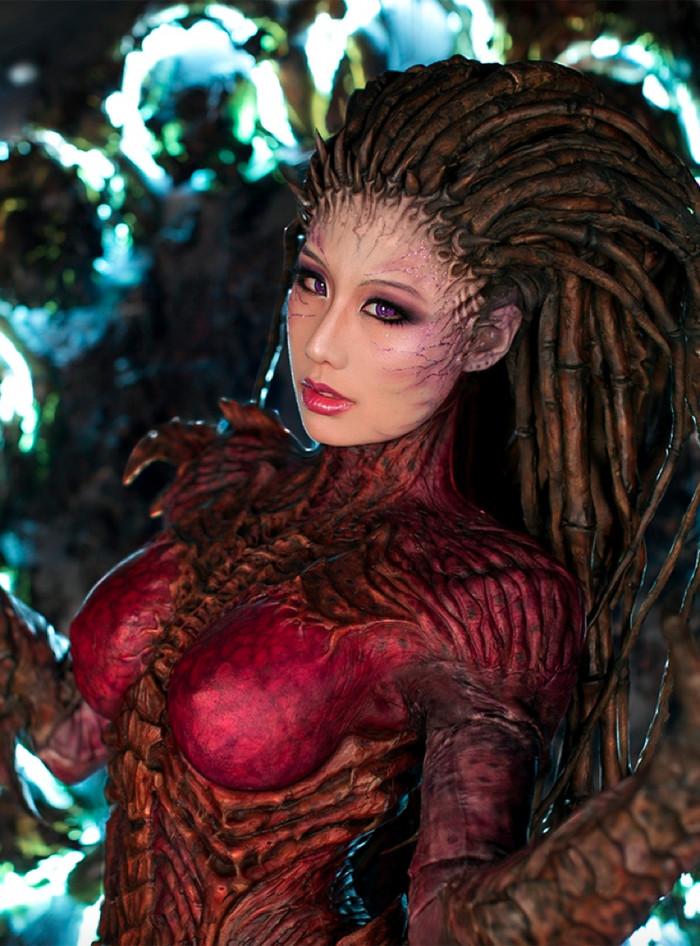 Как создавался прекрасный косплей по Королеве клинков Starcraft, Косплей, Сара Керриган, Starcraft: Королева Клинков, Процесс создания, Длиннопост, Queen of Blades