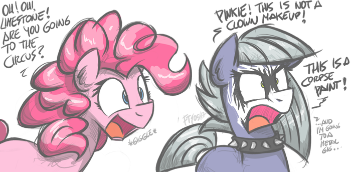 Это на чей же концерт ты собралась? My Little Pony, Ponyart, Pinkie Pie, Limestone Pie, Flutterthrash