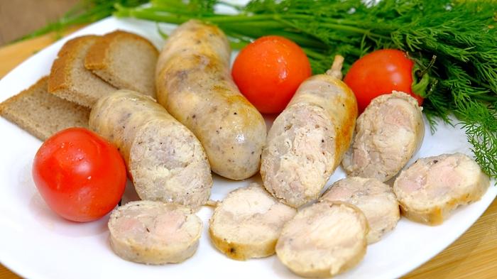 Домашняя колбаса из курицы Домашняя колбаса, Рецепт, Из курицы, Видео, Длиннопост