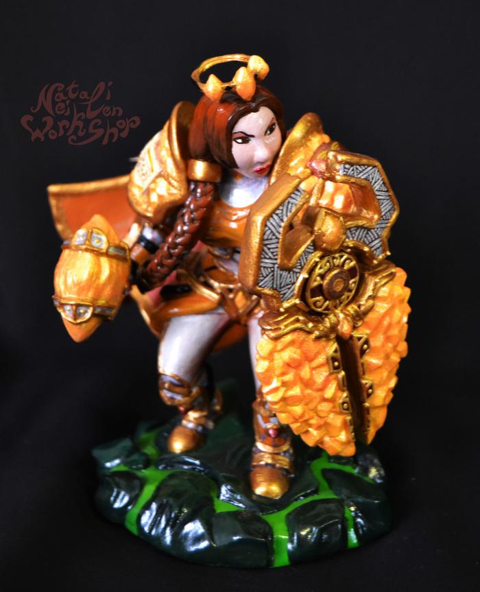 Дворфийка-паладин (World of Warcraft) World of Warcraft, MMORPG, Фигурка, Ручная работа, Компьютерные игры, Blizzard, Паладин, Дворфы, Длиннопост