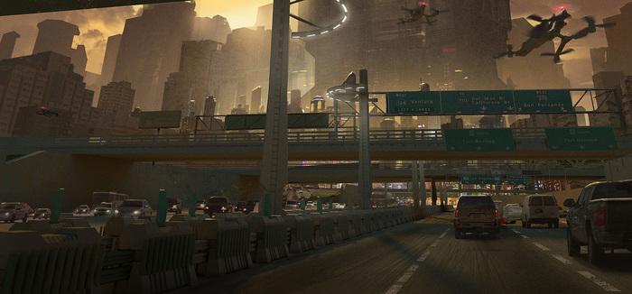 Киберпанк Wang Zheng Киберпанк, Арт, Концепт-Арт, Wang Zheng, Matte Painting, Sci-Fi, Научная фантастика, Длиннопост