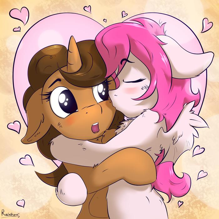 С Днём сердец и копыт, понятки! Rainihorn, Original Character, My Little Pony