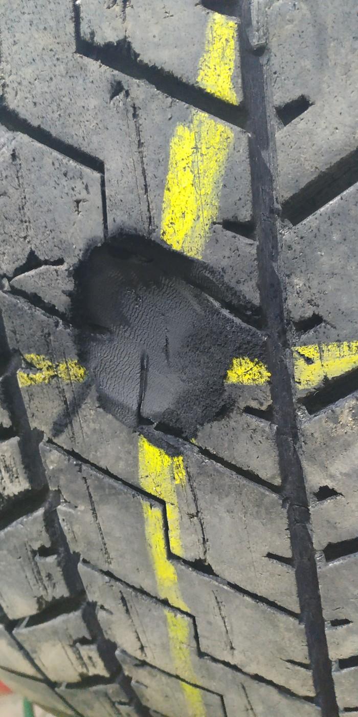 Очередной ремонт грузовой шины Шиномонтаж, Грузовые перевозки, Длиннопост