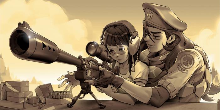 История Фарры - девушки с ракетным ранцем. Overwatch, Phara, Фарра, История, Лор, Игры, Длиннопост, Гифка