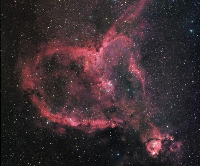 Туманность Сердце Наука, Астрономия, Космос, Туманность, Копипаста, Elementy ru, Видео, Длиннопост