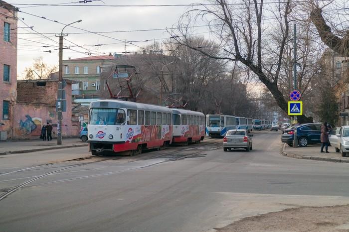 Поработал. Трамвай, Поломка, Рельсы, Днепропетровск, Днепр, Фотография, Длиннопост