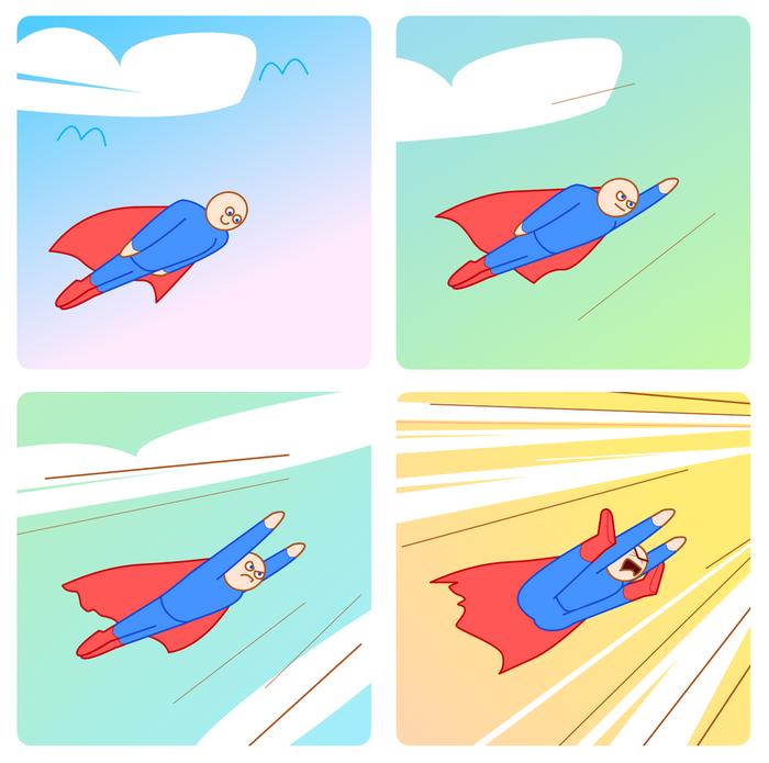 Суперскорость Супермен, Скорость, Картинки, Веб-Комикс