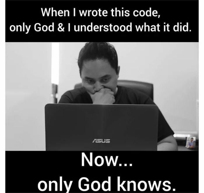 И так не только с кодами. Программирование, Код