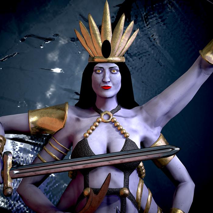 HOMM 3 королева наг. HOMM III, Naga Queen, Королева наг, 3D, Длиннопост
