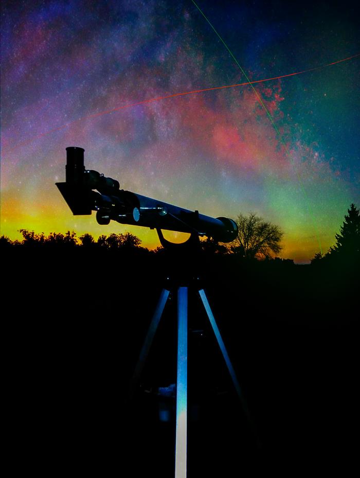 Starlines Космос, Телескоп, Абстракция, Фантазия, Звёзды, Photoshop, Мобильная фотография, Начинающий фотограф