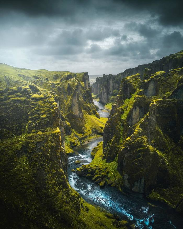 Фьядрарглйуфур, Исландия