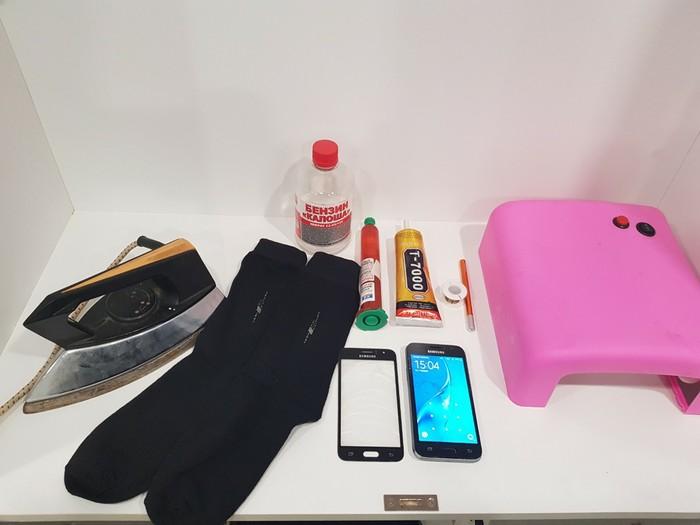 Переклейка стекла Samsung j120 в домашних условиях с помощью утюга и носка. Ульяновск, Замена стекла, Ремонт телефона, Samsung, Длиннопост
