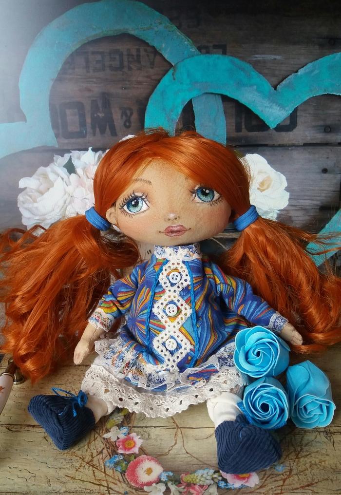 Рыжуля) Рукоделие без процесса, Текстильная кукла, Рыжая девочка, Своими руками, Длиннопост
