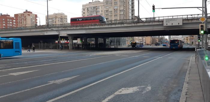 Если все пересядут на ОТ Москва, Общественный транспорт, Перекрыли дорогу