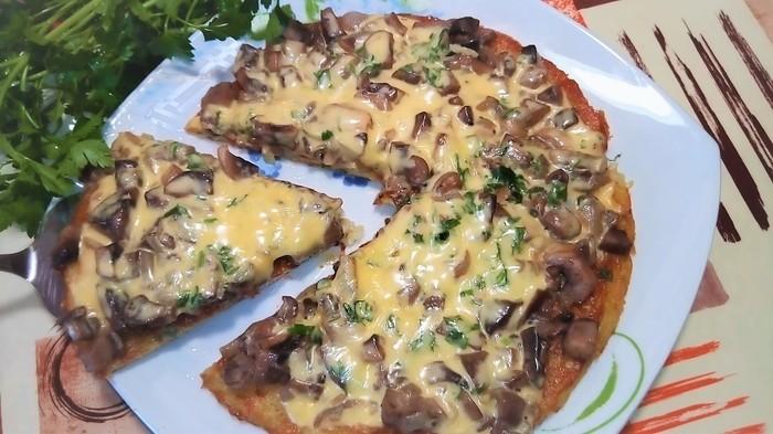 Картофельная пицца на сковороде. Пицца, Ужин, Видео рецепт, Кулинария, Рецепт, Еда, Видео, Пирог