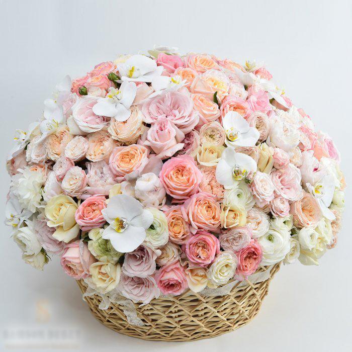 Прощание в 51 день и 2601 розу Букет, Прощание, Романтика, Цветы