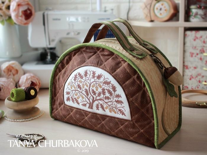 Текстильный чемоданчик для вышивки Рукоделие без процесса, Шитье, Вышивка, Сумка, Ручная работа, Длиннопост