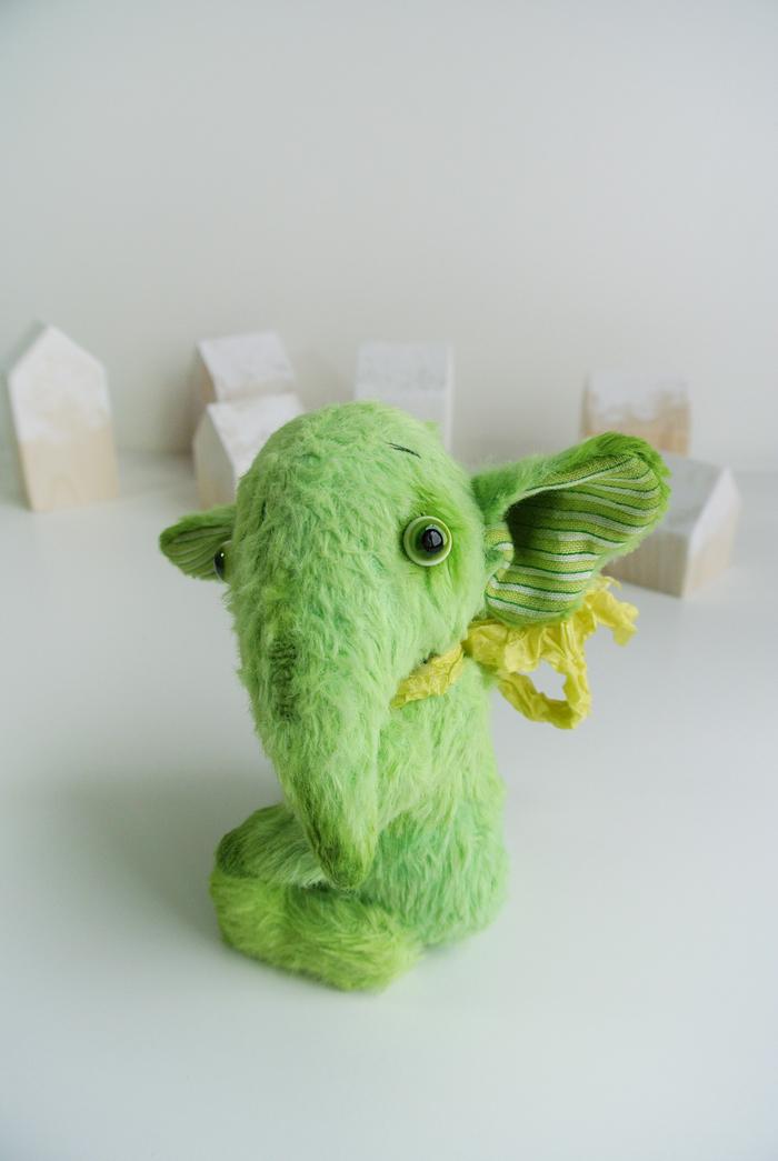 Зеленый слон Длиннопост, Рукоделие без процесса, Авторская игрушка
