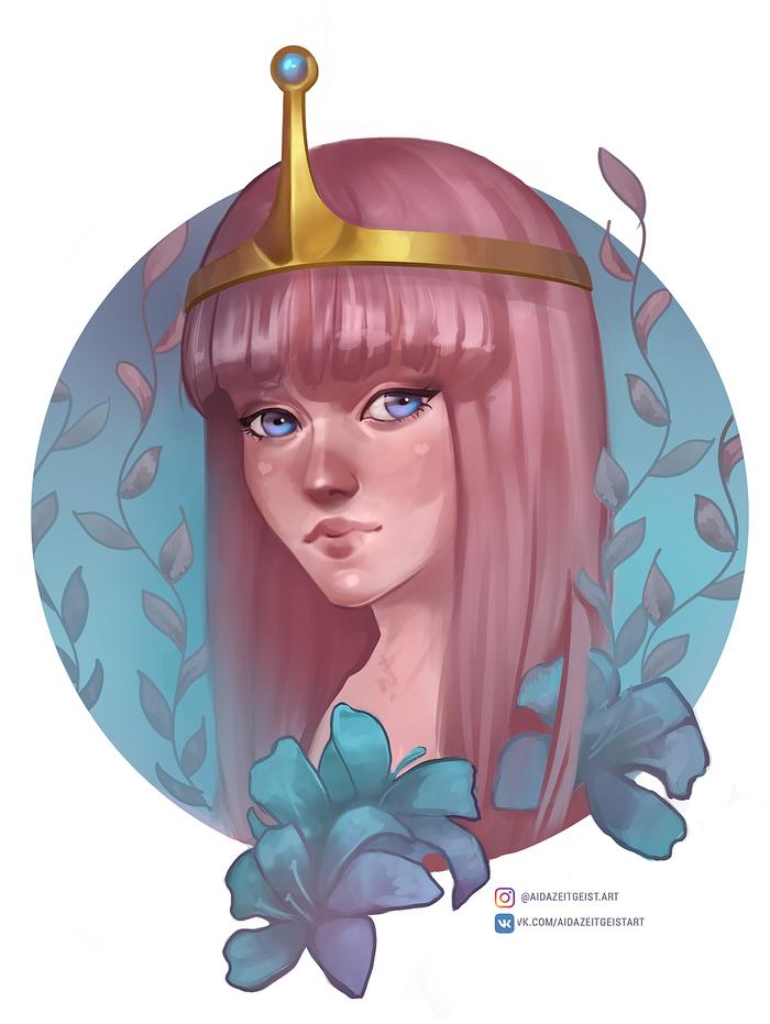 Бубльгумка Adventure Time, Princess Bubblegum, Мультфильмы, Cartoon Network, Фан-Арт