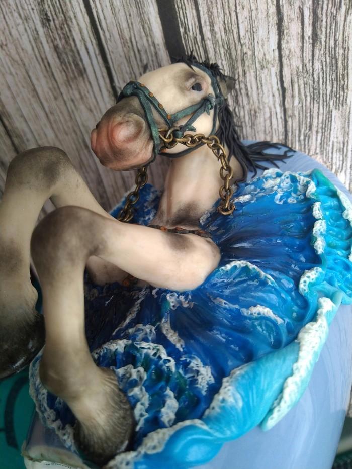 """Декор кружки """"Конь Посейдона"""" полимерной глиной Лошади, Полимерная глина, Лошадь, Декор, Кружка с декором, Рукоделие с процессом, Длиннопост"""
