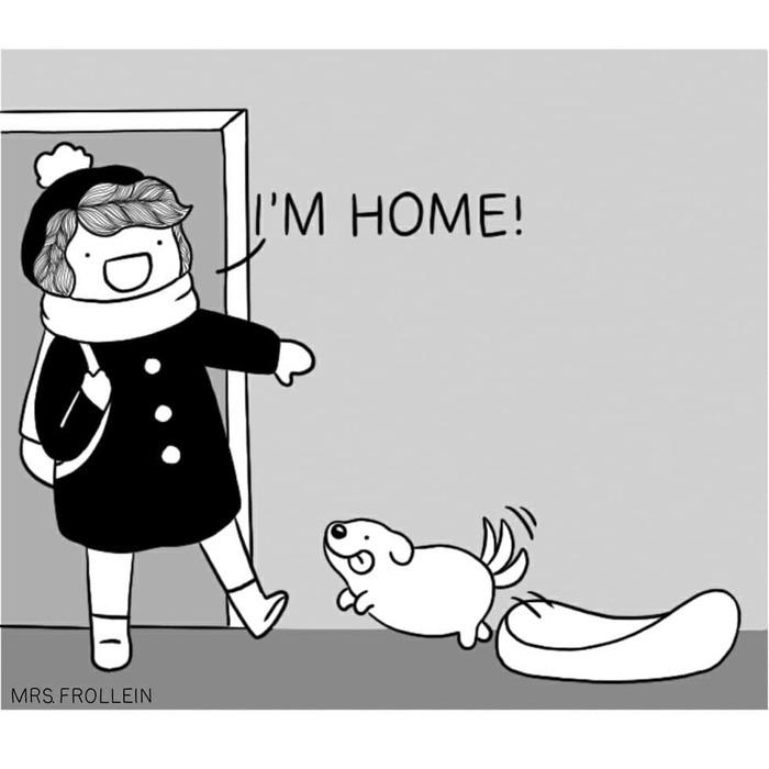 Я дома... Mrsfrollein, Собака, Грусть, Длиннопост
