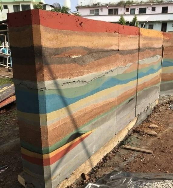 Художественное бетонирование Бетон, Забор, Красители