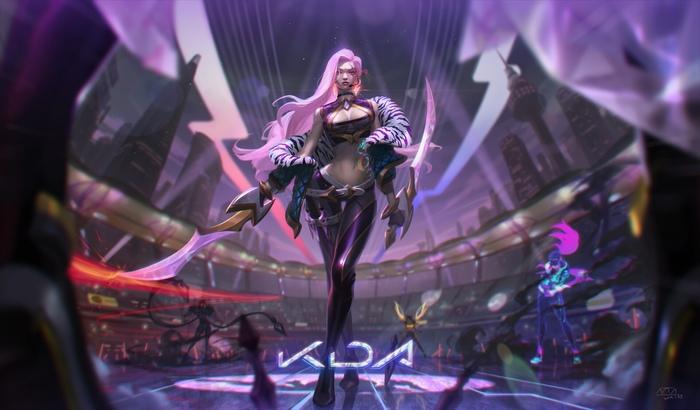 K/DA Katarina - Goddess With A Blade Art Арт, Junsartwork, League of Legends, KDA, Evelynn, Akali, Kaisa