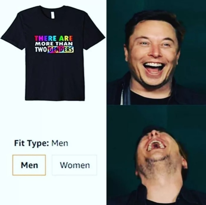 Существует больше, чем два пола Пол, Гендер, Сарказм, Одежда, 9GAG, Илон Маск, Мемы