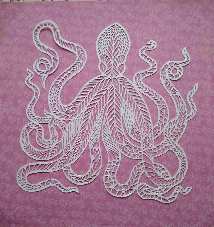 Octopus Бумага, Octopus, Осьминог, Хобби, Раскраска, Видео, Длиннопост