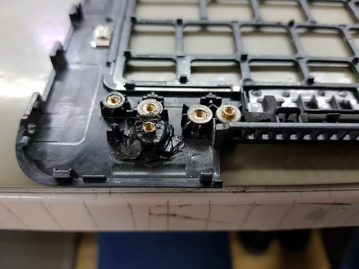 Восстановление стоек на ноутбуке Samsung Корпус, Восстановление, Длиннопост