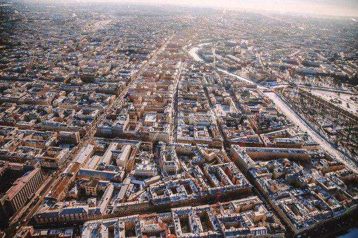 Санкт-Петербург с вертолёта Санкт-Петербург, Вертолёт, С высоты, Длиннопост