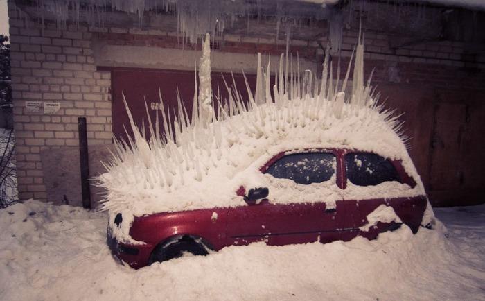 Безумная зима Авто, Сосульки, Зима