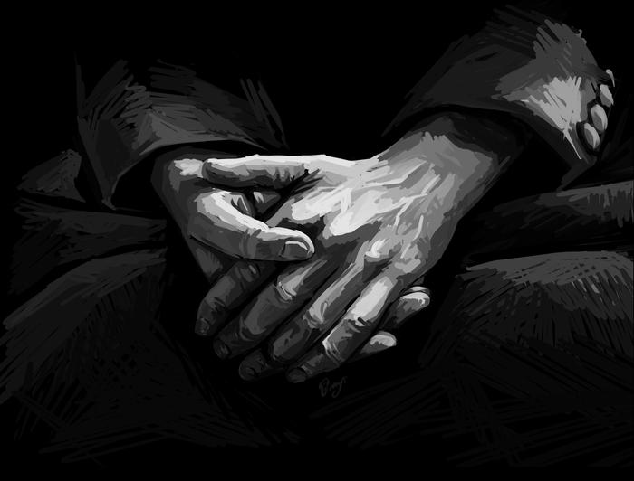 Руки Рисунок, Руки, Цифровой рисунок, Монохром