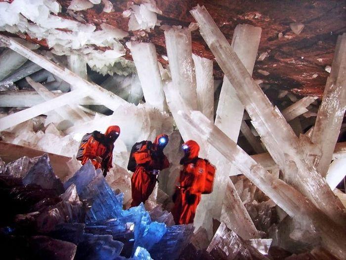 Фантастическая пещера в Мексике Кристаллы, Пещера, Длиннопост