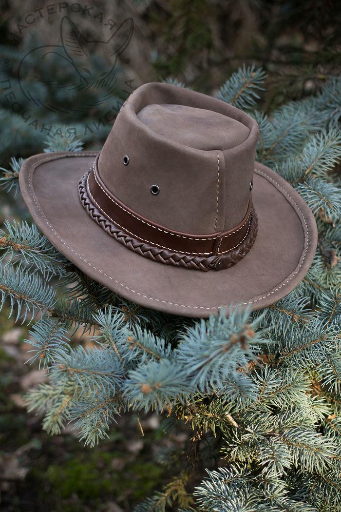 Городская шляпа в базовой комплектации Ручная работа, Шляпа, Кожа, Крафт, Своими руками, Длиннопост, Рукоделие без процесса, Изделия из кожи