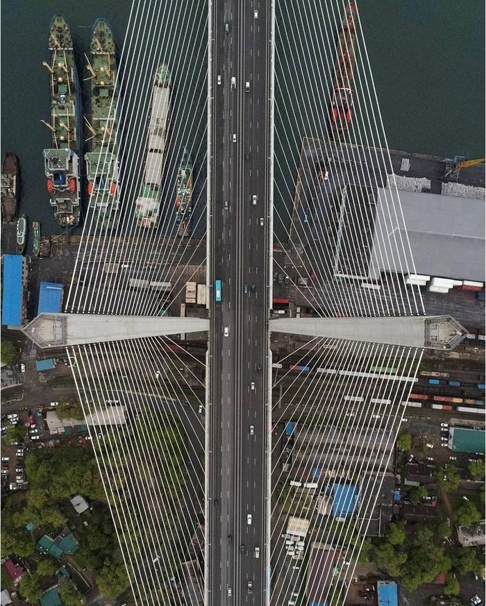 Владивосток, Золотой мост. Мост, Владивосток, Ракурс, Удачный ракурс, Конструкция