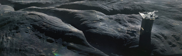 Sci-fi арт [Victor Dufayard ] Научная фантастика, Длиннопост, Город, Дамба, База, Artstation