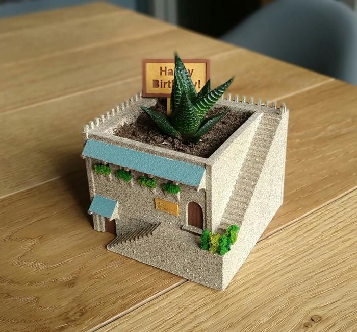 Цветочный горшок в виде домика) Рукоделие без процесса, Дом, 3D принтер, Марципан, Подарок, Длиннопост