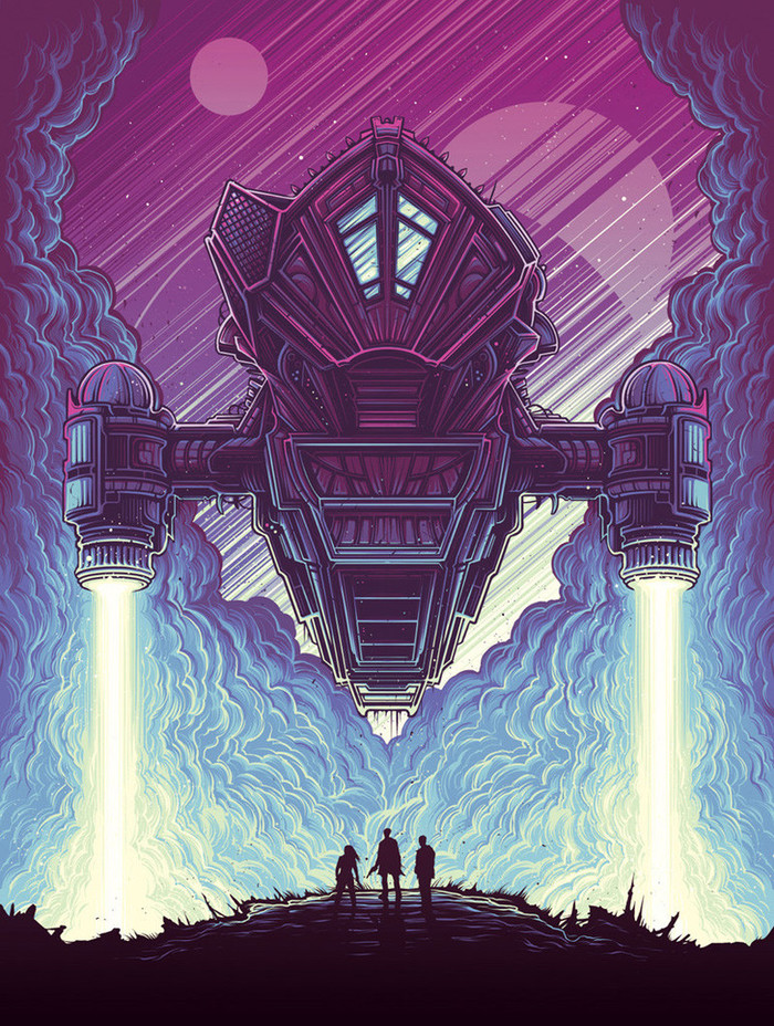 Serenity by Dan Mumford Serenity, Светлячок, Арт, Космический корабль