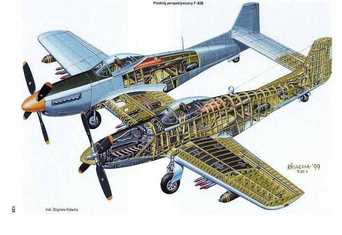 F-82 Twin Mustang- последний поршневой истребитель США. Американские самолеты, Истребитель, f-82 Twin Mustang, Длиннопост