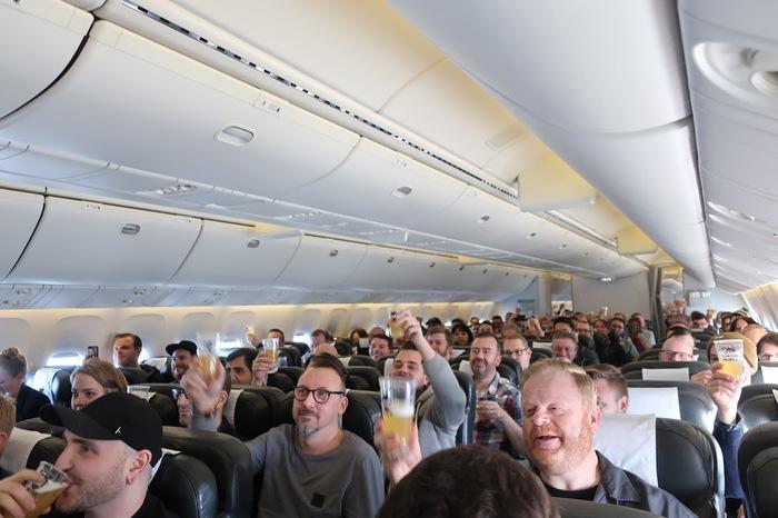На авиарейсе BrewDog переполнились туалеты и почти закончилось пиво Пиво, Крафтовое пиво, Дичь, Длиннопост, Самолет