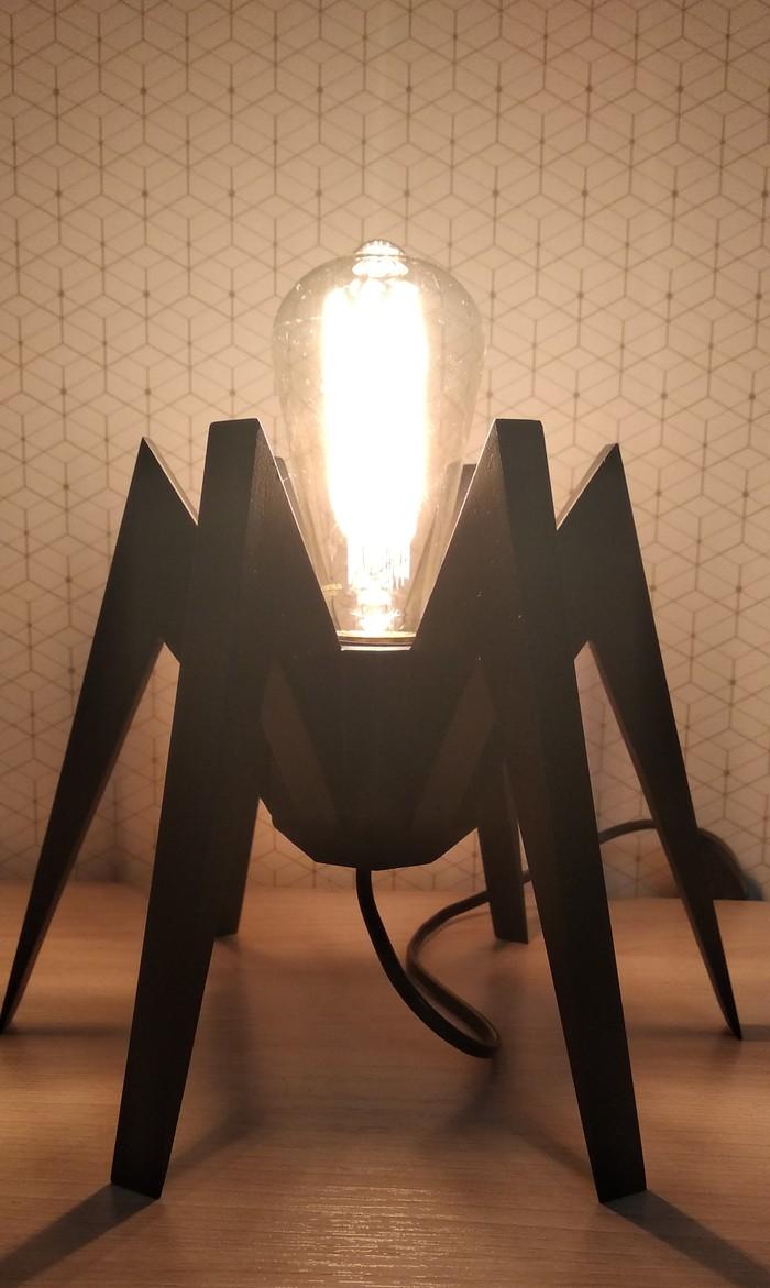 Настольная лампа 2. Многоножка Настольная лампа, Светильник, Изделия из дерева, Многоножка, Своими руками, Длиннопост