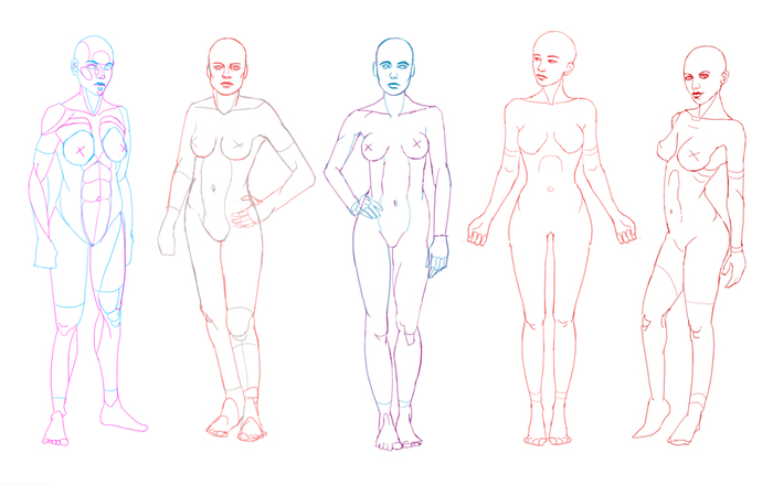 Анатомия, наброски Анатомия человека, Цифровой рисунок, Скетч, Череп, Набросок, Lineart, Длиннопост, Рисунок, Анатомия