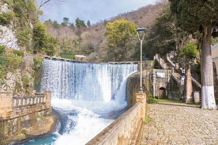 Абхазия, Новый Афон - новые фотографии Абхазия, Новый Афон, Водопад, Железная Дорога, Февраль, Длиннопост