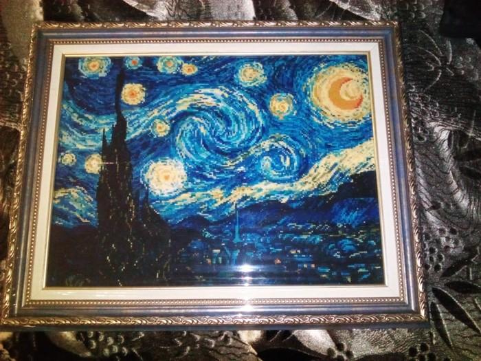 Вот такие картины у меня мама вышивает! Мама, Картина, Ван Гог, Нитки и иголки