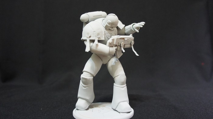 [3д печать] Модель имперского кулака. Первая работа. Warhammer 40k, 3D печать, Космодесант, 3D, Zbrush, Длиннопост