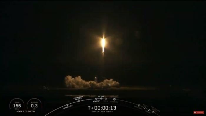 Успешный старт Falcon 9 с кораблем Crew Dragon в рамках миссии DM1 Spacex, Dragon 2, Falcon 9, Старт, Космос, Пилотируемая космонавтика, МКС, Техника, Длиннопост